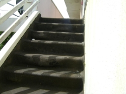 external stairs slumping on risers