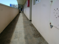 example balcony after grinding and cleaning, dry ready for asphalt primer