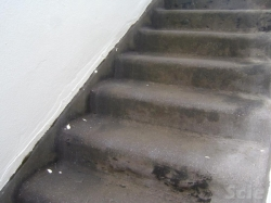 stairs slumping, to be repaired