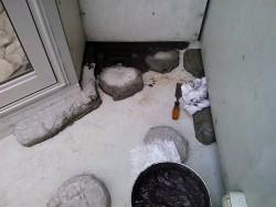 drain in corner