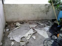removed the plaster pads and ripped all the Sonogard off