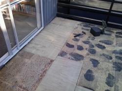 area near door repaired