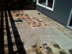 joints are filled and the entire deck sanded
