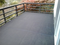 view of the finished buytnol, east, outside railing