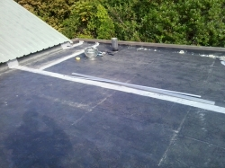 view over the flat roof to the south west