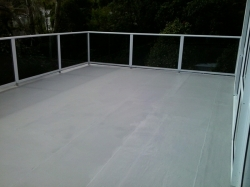 main deck area, heavy coat of Traffigard Body Coat FD applied by brooming