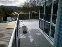 side deck area, heavy coat of Traffigard Body Coat FD applied by brooming