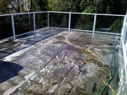 main deck area scrubbed with Xplus degreaser and detergent