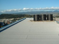 roof work is complete, view to east