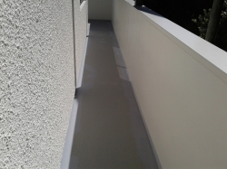 next day the narrow walkway has been coated with Traffigard FD, then 1st coat of Unishield 3 part epoxy acrylic coating