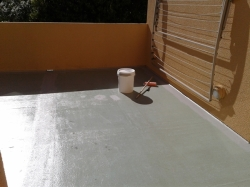 Traffigard BC being applied over dried Formstic primer