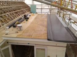 9 metre long sheet tacking off