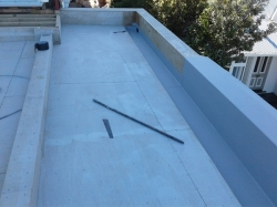 reverse view of partly completed north west gutter, end of day