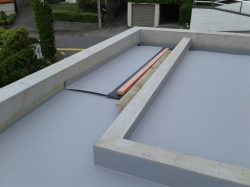 last horizontal sheet almost laid