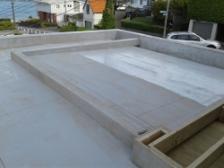 view back over the roof to the south east, primed with hydroepoxy