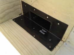 enviroclad TPO scupper is fitted into the recess