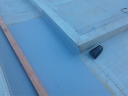 one piece of horizontal membrane laid before temperatures dropped too low