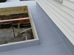 area behind skylight rear roof
