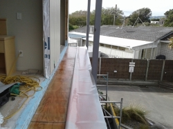east facing balconies 1 & 2, Dec-K-ing pvc membrane 8.4 metres long