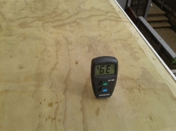 moisture content in the plywood is too high to allow laying of pvc