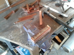 jig for making copper mini flashings for posts