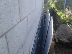 30mm polystyrene board protection ready to be fitted
