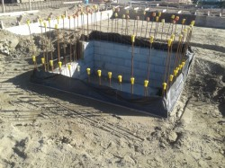 Lift Pit is backfilled to floor level