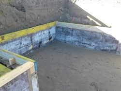 formwork/boxing for Orchestra Pit Floor, sand base, footing will be 800mm high
