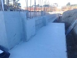 closer view of hydroepoxy primer on west slab footing top