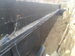 2nd layer on side of footing
