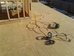 L shaped deck ready for sanding