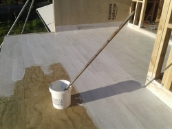 plywood is coated with hydro epoxy primer to seal