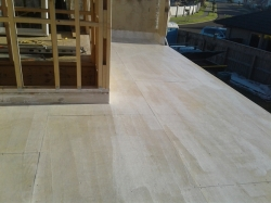 deck is primed with hydroepoxy sealer