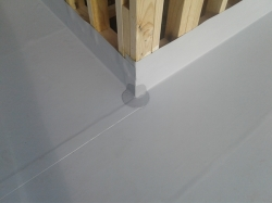 sheet lap and external corner at wall