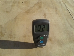moisture content of plywood is too high, must be below 18%