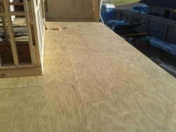 main section sanded