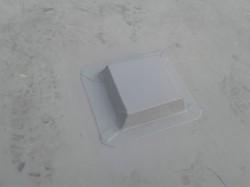 closeup of membrane over a plinth