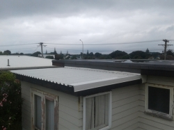 completed metal roof