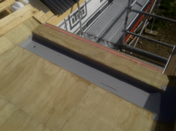 internal gutter lined with TPO sheet